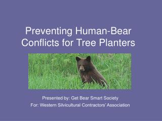Preventing Human-Bear Conflicts for Tree Planters