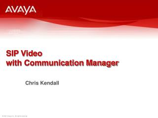 SIP Video with Communication Manager