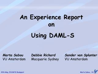 An Experience Report  on