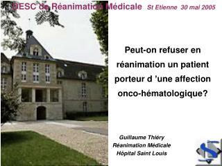 Peut-on refuser en réanimation un patient porteur d'une affection onco-hématologique?