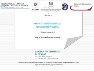 I MARCHI E I DISEGNI COMUNITARI PER COMPETERE IN EUROPA