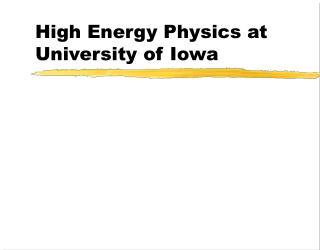 High Energy Physics at University of Iowa
