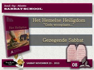 SABBAT  NOVEMBER 23 -  2013