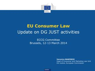 EU Consumer Law Update on DG JUST activities