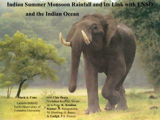 Indian Summer Monsoon Rainfall and Its Link with ENSO