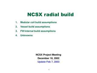NCSX radial build