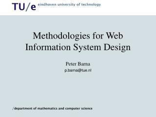 Methodologies for Web Information System Design