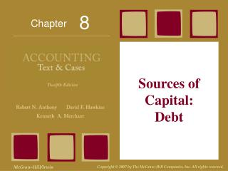 Sources of Capital: Debt