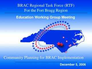 BRAC Regional Task Force (RTF)  For the Fort Bragg Region