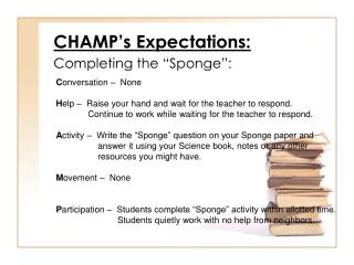 CHAMP's Expectations:
