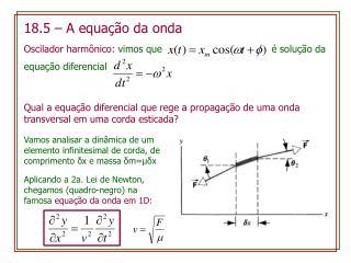 18.5  –  A  equação da onda