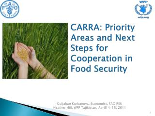 CARRA: Priority Areas and Next Steps for Cooperation in Food Security