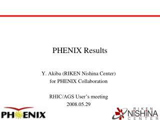 PHENIX Results