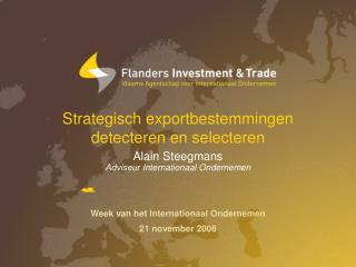 Strategisch exportbestemmingen  detecteren en selecteren