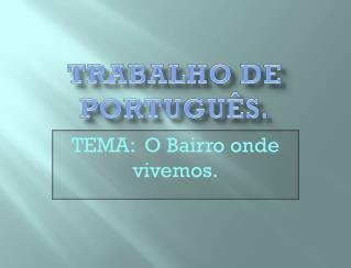 Trabalho de portugu�s.