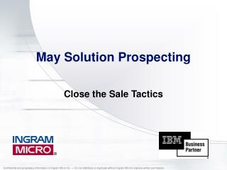 May Solution Prospecting