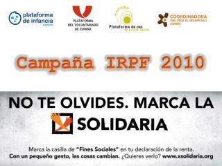 D ossier de prensa  Campaña IRPF 2008