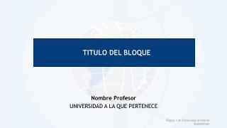 TITULO DEL BLOQUE