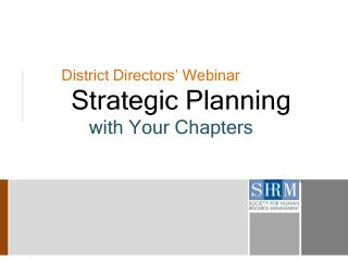 District Directors' Webinar
