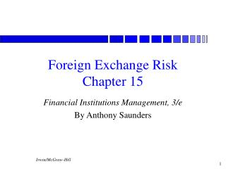 Foreign Exchange Risk Chapter 15