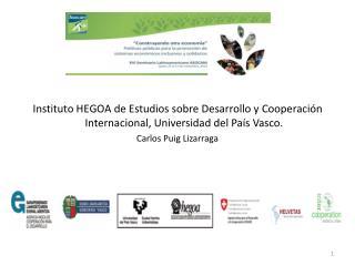 Hegoa  ha definido en su Plan Estratégico 2010-2014 dos ejes
