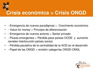 Crisis económica > Crisis ONGD