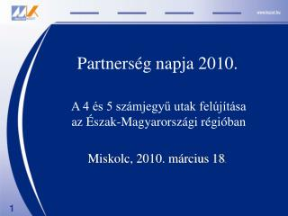 Partnerség napja 2010.