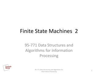 Finite State Machines  2