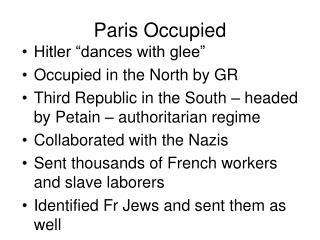 Paris Occupied