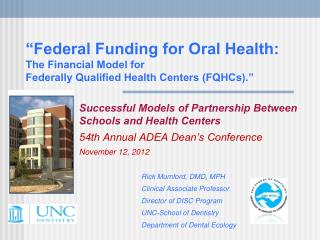 Successful Models of Partnership Between  Schools and Health Centers