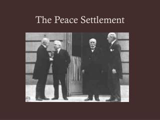 The Peace Settlement