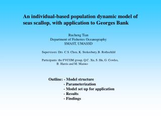 An individual-based population dynamic model of seas scallop, with application to Georges Bank