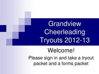 Grandview Cheerleading Tryouts 2012-13
