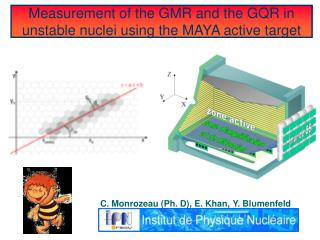 Measurement of the GMR and the GQR in unstable nuclei using the MAYA active target