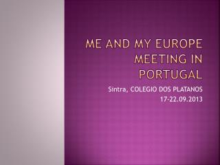 Me and My Europe  meeting in Portugal