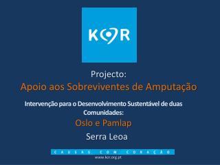 Projecto:   Apoio aos Sobreviventes de Amputação