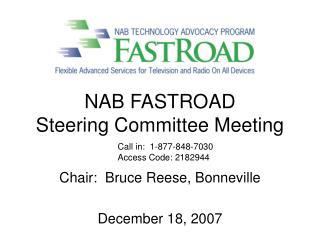 NAB FASTROAD  Steering Committee Meeting