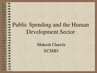 Public Spending and the Human Development Sector