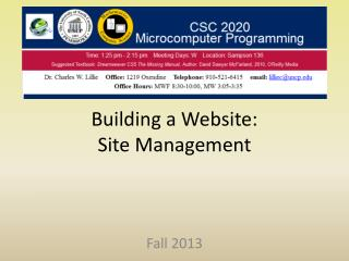 Building a Website: Site Management