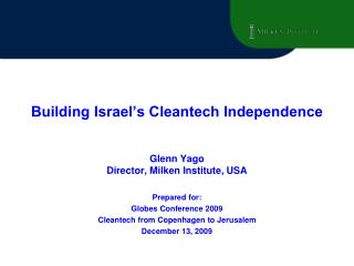 Building Israel's Cleantech Independence