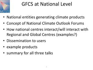 GFCS  at  National  Level