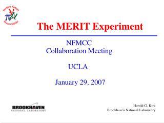 The MERIT Experiment