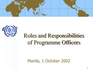 Roles and Responsibilities of Programme Officers