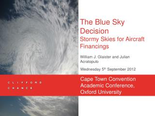 The Blue Sky Decision   Stormy Skies for Aircraft Financings