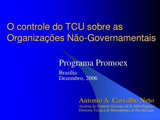 O controle do TCU sobre as Organiza��es N�o-Governamentais