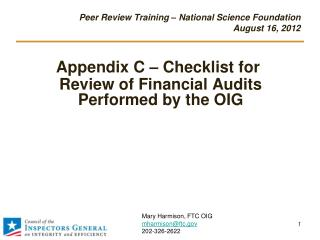 Peer Review Training – National Science Foundation  August 16, 2012