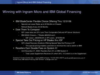 Winning with Ingram Micro and IBM Global Financing