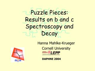 Puzzle Pieces: Results on b and c Spectroscopy and Decay