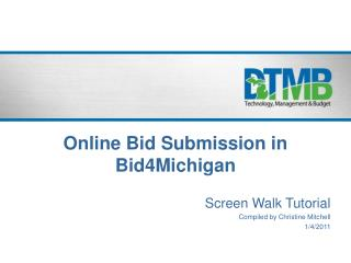 Online Bid Submission in Bid4Michigan