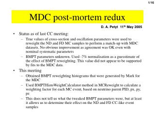 MDC post-mortem redux